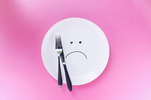unhappy plate